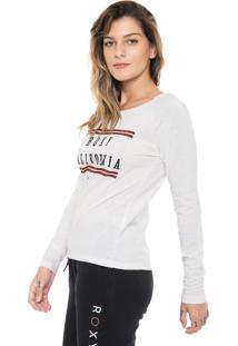 Camiseta Roxy Cali Life Off-White