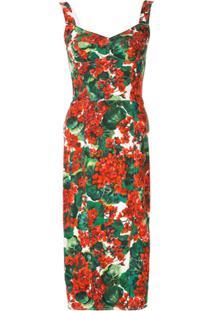 Dolce & Gabbana Vestido Portofino Estampado - Vermelho