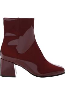 Bota Block Heel Verniz Red Brown | Schutz