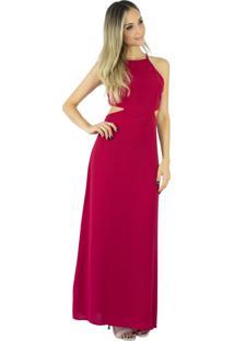 2697e6c976 Vestido Marsala Transparente feminino