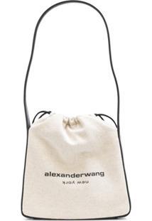 Alexander Wang Bolsa Tiracolo Ryan Com Logo - Neutro