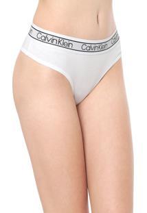 Calcinha Calvin Klein Underwear Tanga Flx Branca