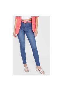 Calça Jeans Lunender Skinny Escultural Azul