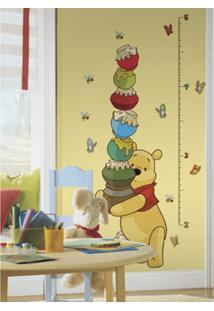 Adesivo De Parede Medidor Ursinho Pooh