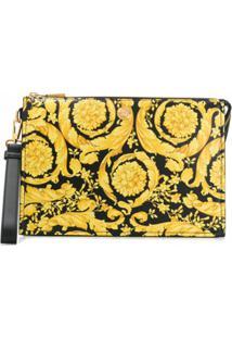 Versace Bolsa Com Estampa Barroca - Amarelo