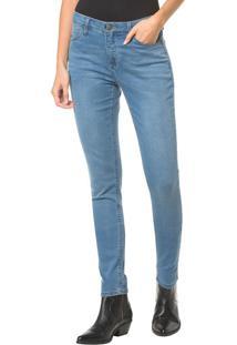 Calça Jeans Five Pockets Ckj 001 Super Skinny - Azul Médio Calça Jeans Five Pockets Super Skinny - Azul Médio - 34