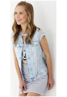 Colete Feminino Jeans Destroyed Marisa