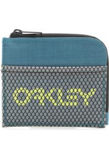 Carteira Oakley 90'S Zip Small Wallet Verde/Cinza