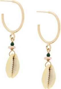 Isabel Marant Étoile Drop Shell Small Hoops - Dourado