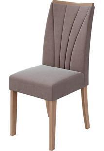 Cadeira Apogeu Velvet Rosê Carvalho Naturale