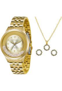 Kit Relógio Feminino Lince Lrg4348L Ku24C2Kx