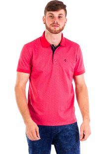 Camisa Polo Carlan Estampa Pink