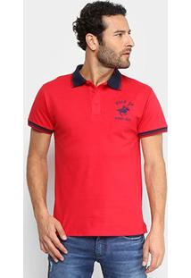 Camisa Polo Up Bordado Masculina - Masculino