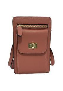 Bolsa Pequena Carteira Porta Celular Documento Transversal Fanlice Shoulder Bag De Lado Marrom