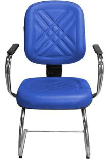 Cadeira Pethiflex Pd-05Scbc Couro Azul