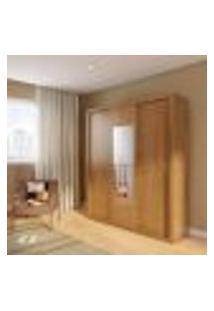 Guarda-Roupa Casal Com Espelho Sara Premium Imbuia 3 Pt 4 Gv