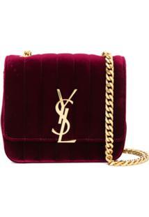 Saint Laurent Bolsa Vicky Pequena - Vermelho
