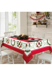 Toalha De Mesa Genebra Natal 1,40X2,10 - Papai Noel - Dã¶Hler - Branco/Vermelho - Dafiti