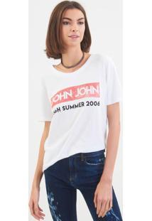 Camiseta John John Jj High Summer Malha Branco Feminina (Branco, Gg)