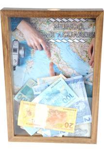 Quadro Decorativo Tabaco Porta Dinheiro Mapa Prolab Gift - Marrom - Dafiti
