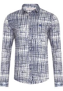 Camisa Masculina Ckj Estampa Mirror - Azul