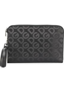 Dolce & Gabbana Clutch Com Padronagem De Logo - Preto