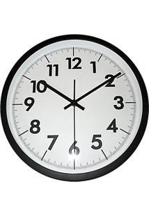 f404c1e2c7b Relógio De Parede Analógico- Branco   Preto- 8Xø32Cmurban