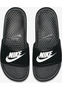 Sandália Nike Benassi Jdi Masculina - Masculino-Preto+Branco