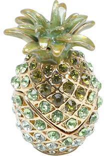 Porta Joias Em Zamac Pineapple Glamorous 4X6,5Cm