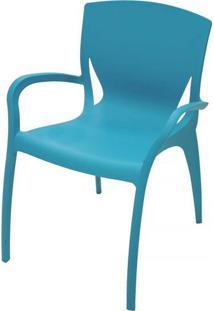 Poltrona Tramontina Clarice Azul Claro