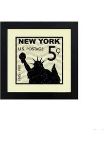 Quadro Decorativo New York 23X23Cm Preto Infinity