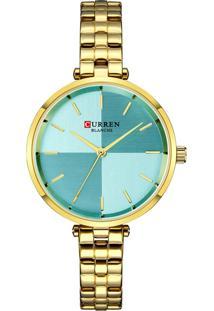 Relógio Curren Analógico C9043L Dourado E Azul