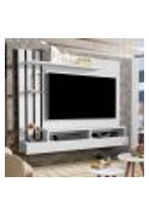 Painel Para Tv Até 47 Polegadas - Branco Com Preto - Móveis Jaci
