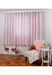 Cortina Santista Lille 180X280 Rosa