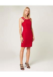 Vestido Curto Com Alça Dupla Malwee Vermelho - P