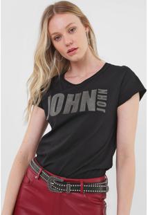 Camiseta John John Up Preta - Kanui