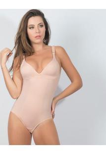Modelador Body Sem Bojo E Sem Aro Elegance - Feminino-Bege