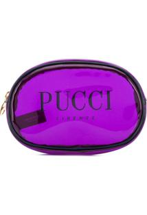 Emilio Pucci Necessaire Estampada Com Logo - Roxo