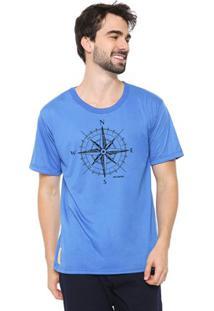 Camiseta Masculina Eco Canyon Rosa Dos Ventos Azul