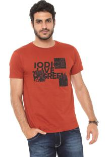Camiseta Iódice Estampada Laranja
