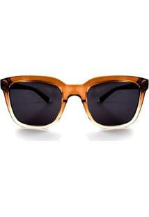 Óculos De Sol Detroit Plena Degradê Feminino - Feminino-Marrom