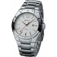 83e87411fa6 Relógio Curren Analógico 8103 Prata E Branco - Masculino-Prata+Branco