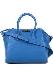 Bolsa Couro Luiza Barcelos Mini Bag Viena Feminina - Feminino-Azul