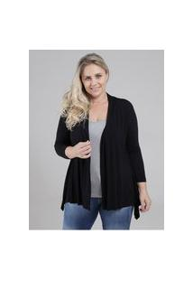 Blusa Sobreposição Autentique Plus Size Feminina Preto/Cinza