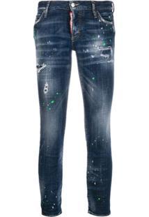 Dsquared2 Calça Jeans Cropped Jennifer - Azul