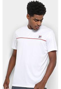 Camiseta Fila Square Masculina - Masculino-Branco+Vermelho
