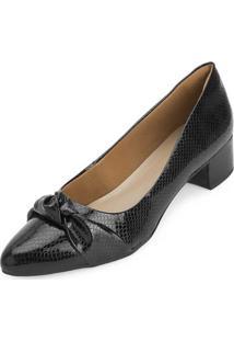 Sapato Salto Bloco Aquarela Aq20-005Vz Preto