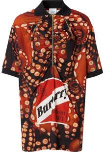 Burberry Camisa Polo Com Estampa De Polvo - Vermelho