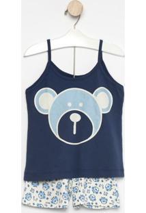 Pijama Ursos- Azul Marinho & Branco- Zulaizulai