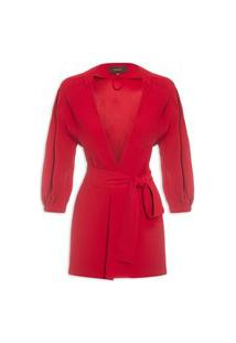 Blazer Feminino London - Vermelho